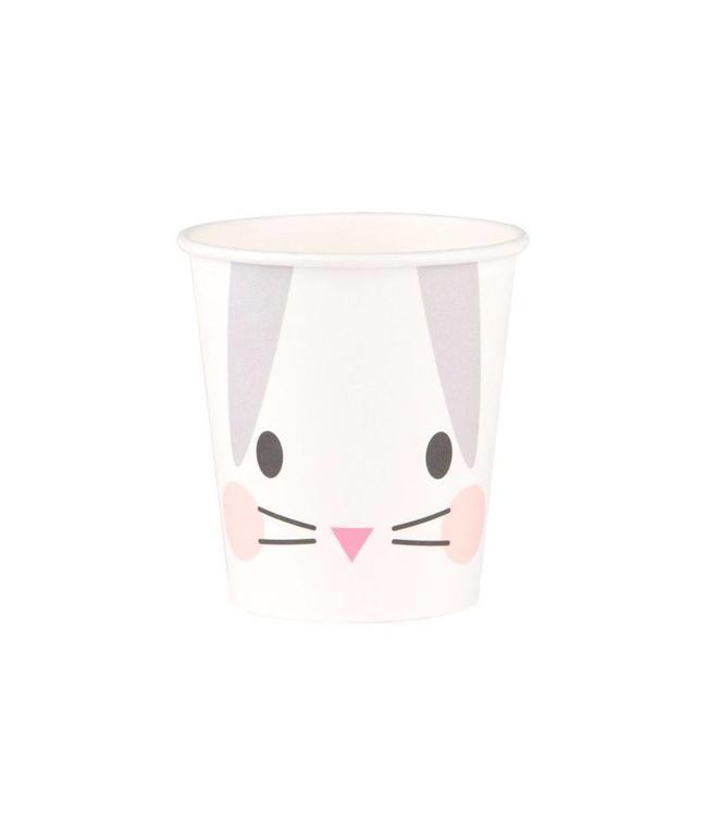 My Little Day Klein Konijn Bekers - 8 stuks - Mini Rabbit van My Little Day