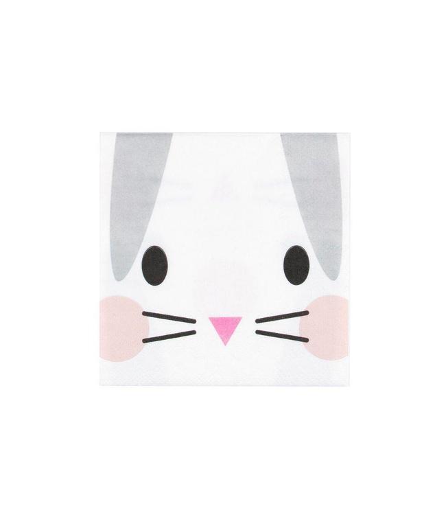 My Little Day Klein Konijn Servetjes - 20 stuks - Mini Rabbit van My Little Day