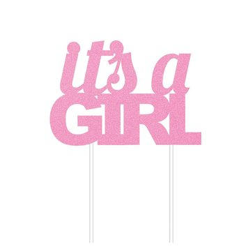 Creative Party It's a Girl Cake Topper - per stuk - Taarttopper