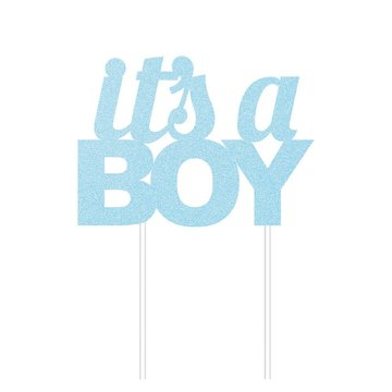 Creative Party It's a Boy Cake Topper - per stuk - Taarttopper