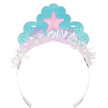 Creative Party Mermaid Shine Tiara's - 8 stuks - Mermaid Feestartikelen