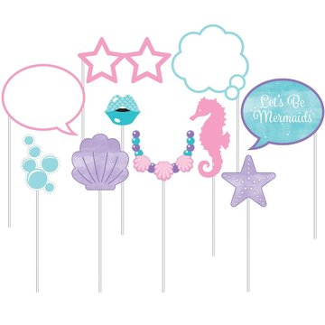 Creative Party Mermaid Shine Photo Props - 10 stuks - Mermaid Feestartikelen