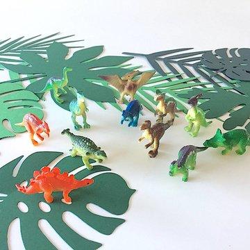 Amscan Dinosaurussen Miniaturen - 12 stuks - Dino kleine figuren