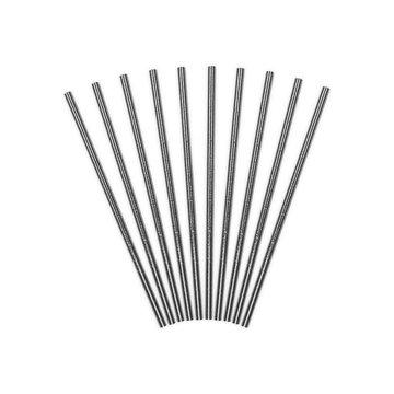 Partydeco Rietjes Zilver - 10 stuks - 19,5 cm