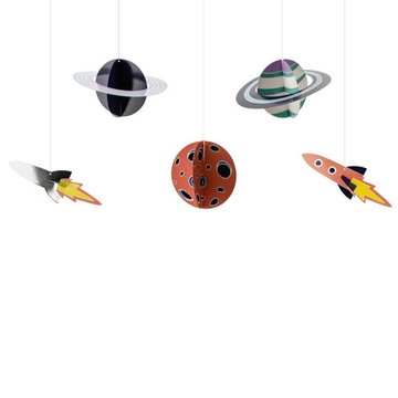 Partydeco Space Party Hangdecoraties (DIY) - 5 stuks - Space feestartikelen en versiering