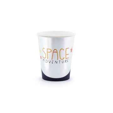 Partydeco Space Party Bekers - 6 stuks - Space feestartikelen en versiering