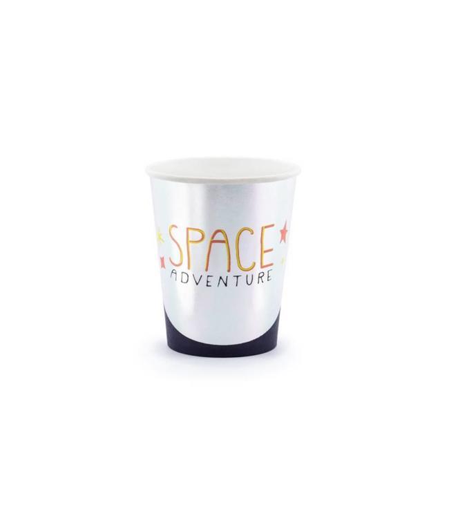 Partydeco Space Party Bekers - 6 stuks - Space feestartikelen en versiering