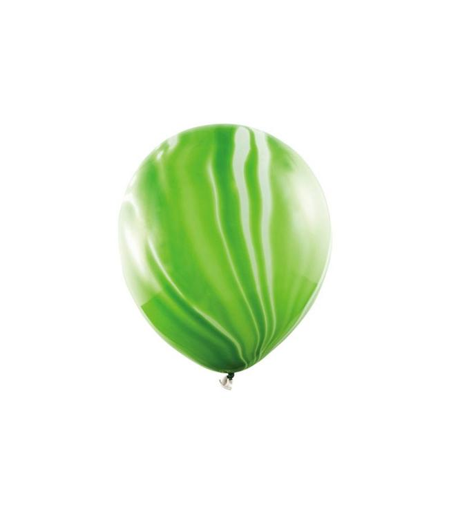 Partydeco Marble Ballonnen Groen - 6 stuks - 30 cm - Marmer Ballonnen