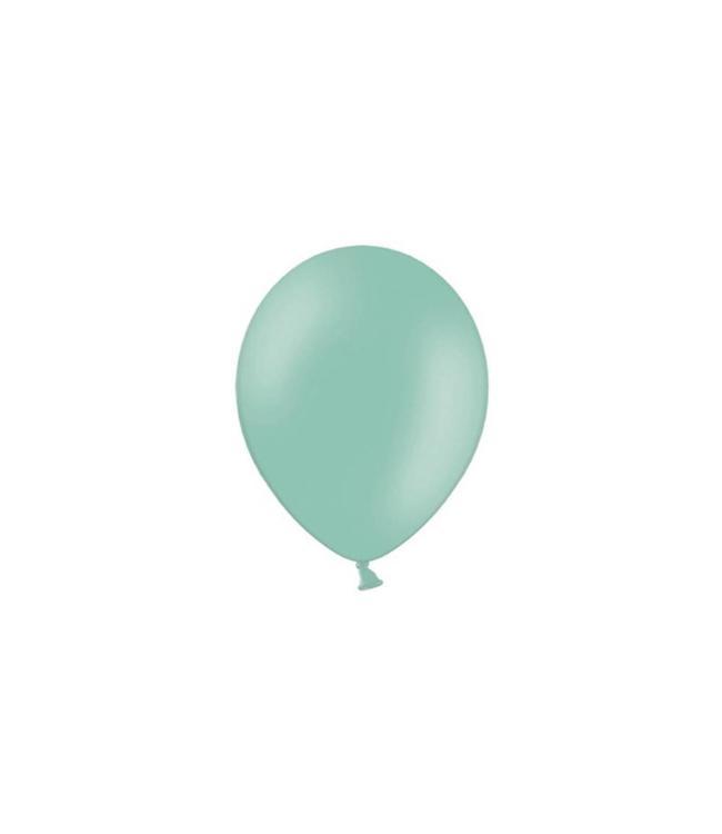 Partydeco Mint Ballonnen (Klein) - 100 stuks - 12 cm - latex ballonnen