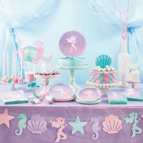 Kinderfeestje trends: zeemeermin pastel en glitters