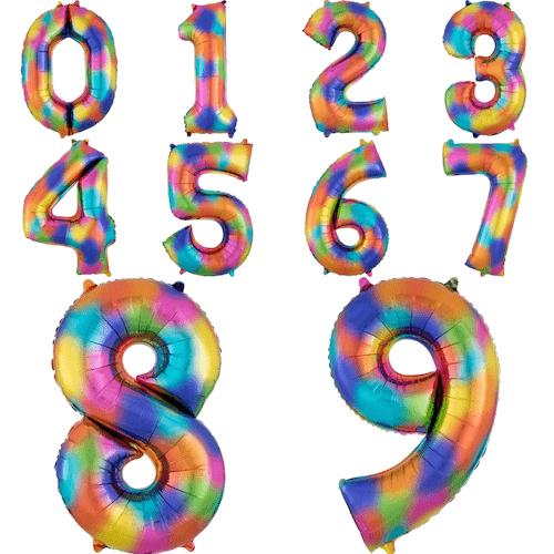 Kinderfeestje trends 2019: rainbow splash folieballonnen