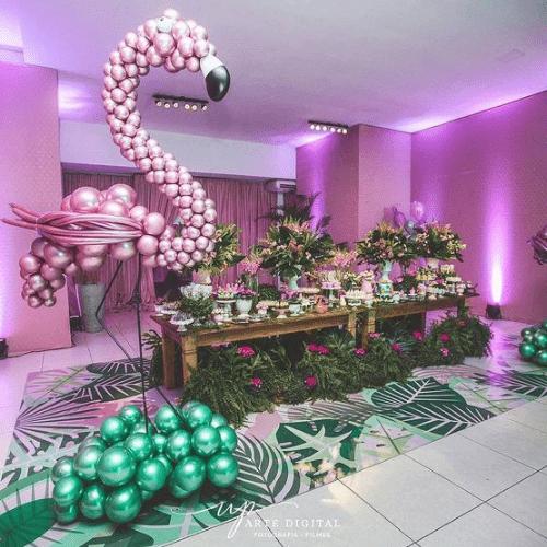 Kinderfeestje Trends 2019: tropical party flamingo