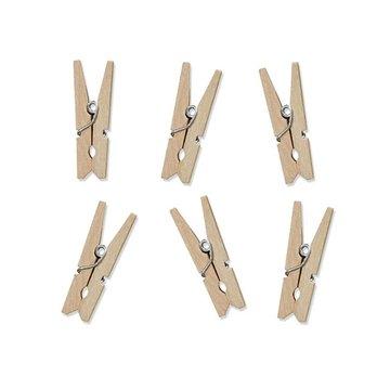 Partydeco Houten Knijpertjes - 10 stuks - 3,5 cm