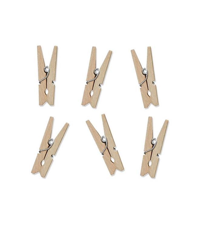 Partydeco Houten Knijpertjes- 10 stuks - 3,5 cm