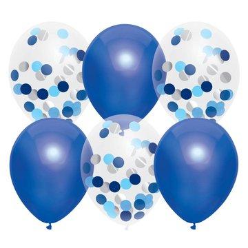 Haza Ballonnen Mix Blauw - 6 stuks