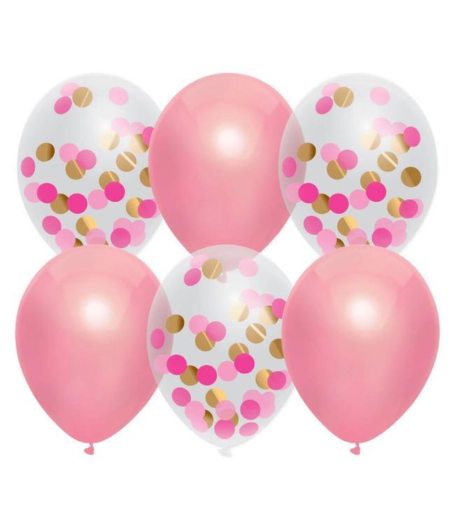 Haza Ballonnen Mix Roze - 6 stuks