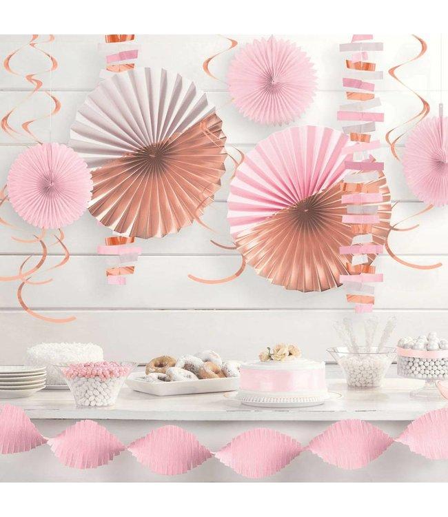 Amscan Decoratieset Rosegoud, Roze & Wit - set van 14 items