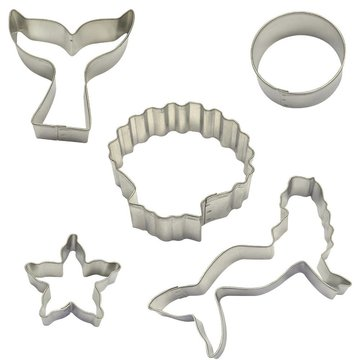 Creative Party Mermaid Cookie Cutters Kit - Set van 5 - Zeemeermin Feestartikelen