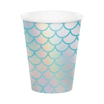 Creative Party Mermaid Shine Bekers - 8 stuks - Mermaid Feestartikelen