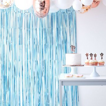 Ginger Ray Feestgordijn Blauw - per stuk - Deurgordijn en Backdrop versiering