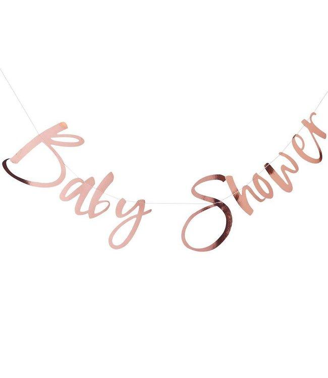 Ginger Ray Babyshower Slinger Roségoud  - per stuk - Baby shower feestartikelen
