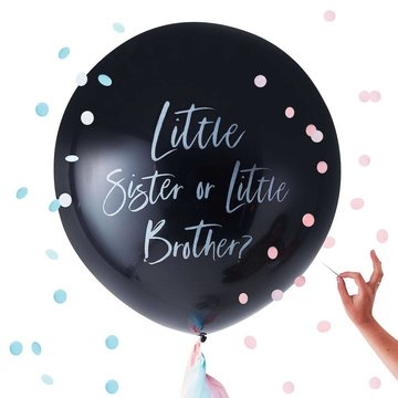 Ginger Ray Gender Reveal Ballon 'Little Sister or Little Brother' - per set - 91 cm
