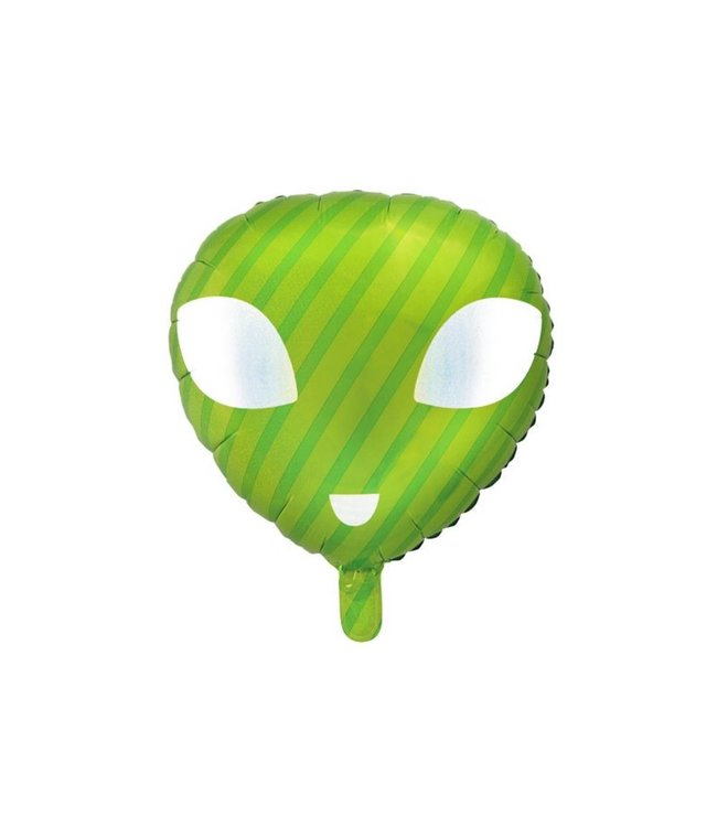 Partydeco Alien Folieballon - per stuk - Space Party feestartikelen