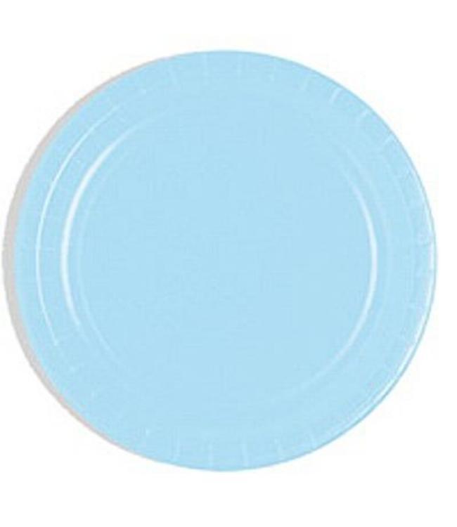 Unique Lichtblauwe Borden - 16 stuks - 23 cm