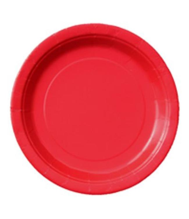 Unique Rode Borden - 16 stuks - 23 cm