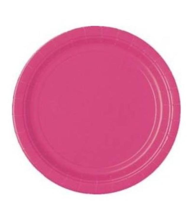 Unique Roze Borden - 16 stuks - 23 cm