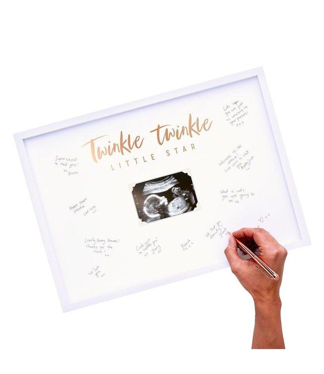Ginger Ray Baby Gastenboek Fotolijst  - per stuk - Twinkle Twinkle Babyshower