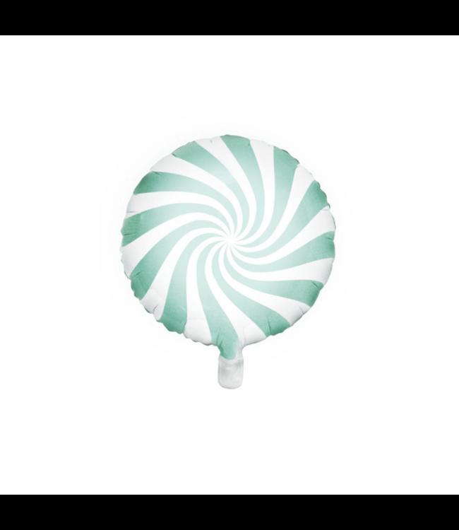 Partydeco Snoep Folieballon Mint - per stuk - Candy folieballon