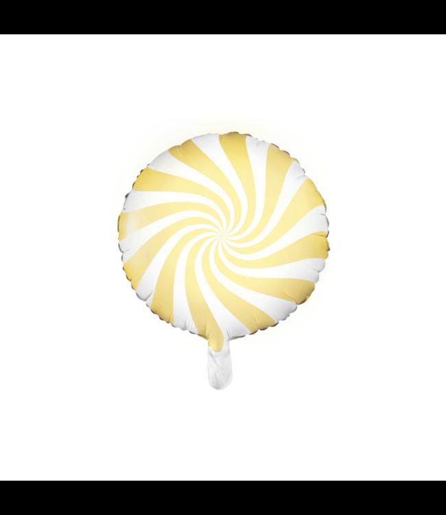 Partydeco Snoep Folieballon Geel - per stuk - Candy folieballon
