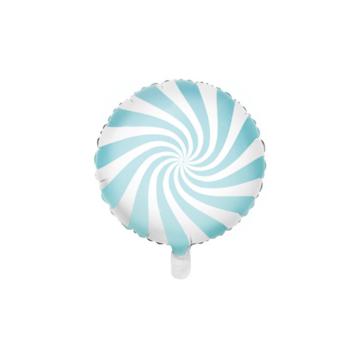 Partydeco Snoep Folieballon Blauw - per stuk - Candy folieballon