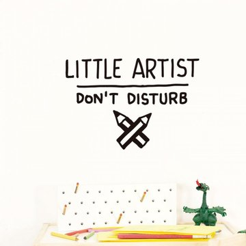 Chispum Muursticker 'Little Artist' - per stuk - Wall stickers voor kinderkamers