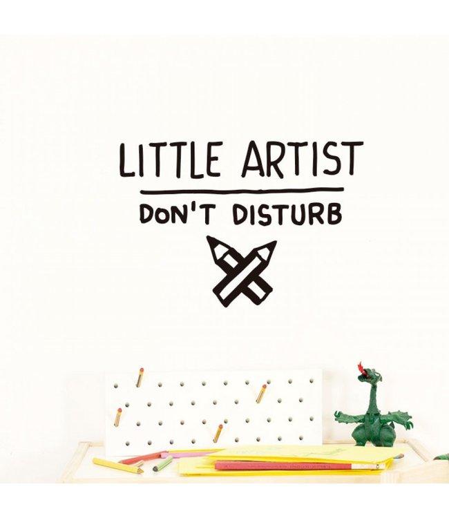 Chispum Muursticker 'Little Artist' - per stuk - Wall stickers voor kinderkamers