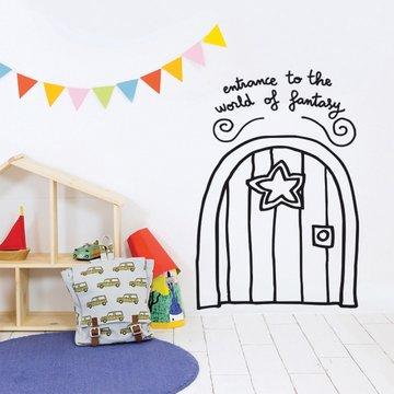 Chispum Muursticker Fantasie Deur - per stuk - Wall stickers voor kinderkamers