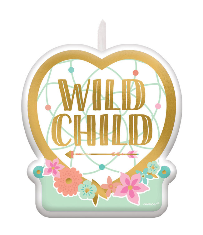 Amscan Boho Birthday Kaars 'Wild Child' - per stuk - Boho Chic