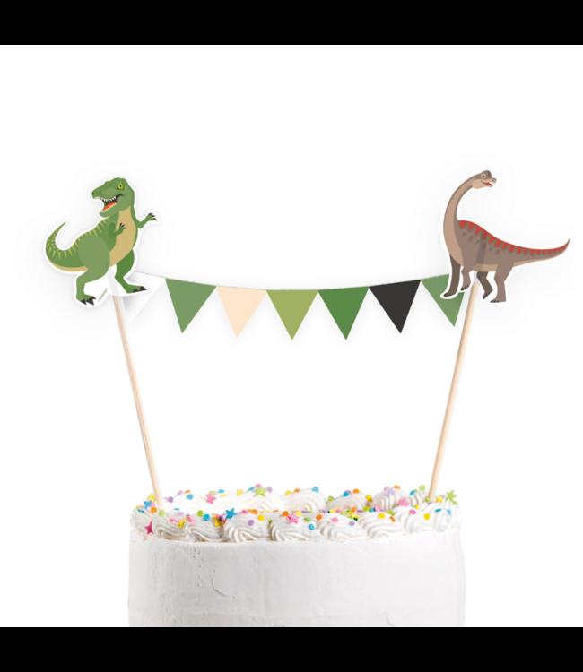 Amscan Dinosaurus Taarttopper - per stuk - Dino feestartikelen