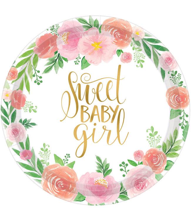 Amscan Boho Baby Bordjes (18 cm) - 8 stuks - Boho Chic