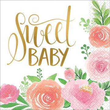 Amscan Boho Baby Servetten - 16 stuks - Boho Chic