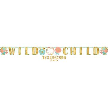 Amscan Boho Birthday Slinger 'Wild Child' - per stuk - Boho Chic