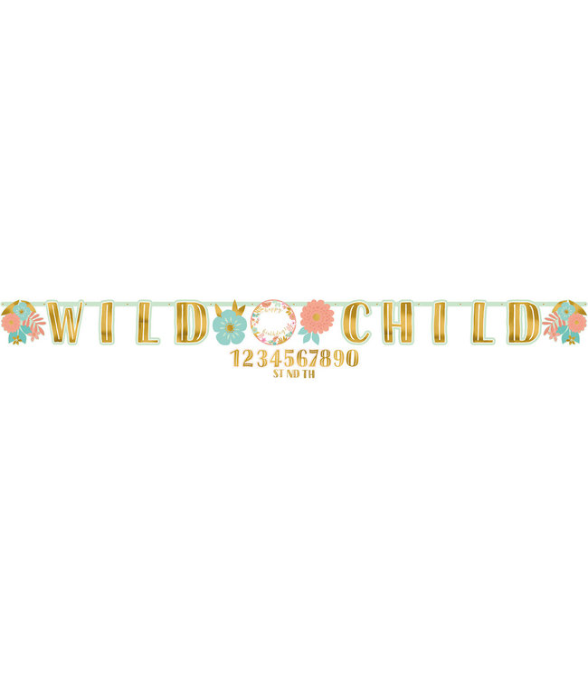 Amscan Boho Birthday Slinger 'Wild Child' - per stuk - Boho Chic