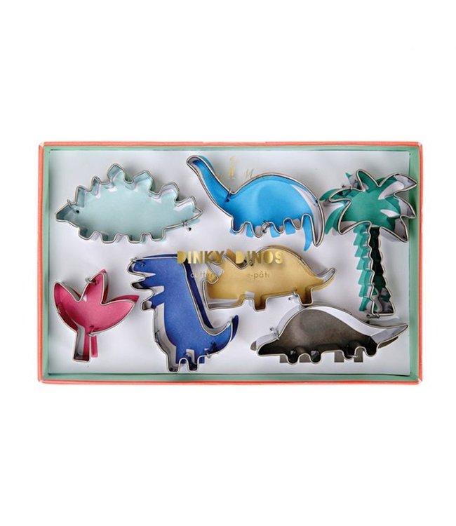 Meri Meri Dinosaurus Cookie Cutters - set van 7 uitstekers