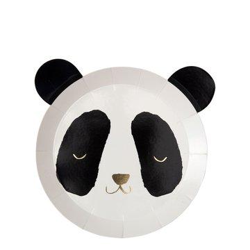 Meri Meri Panda Bordjes - 8 stuks - Panda Party