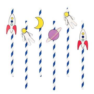 My Little Day Cosmic Rietjes - 12 stuks - Voor een space feestje