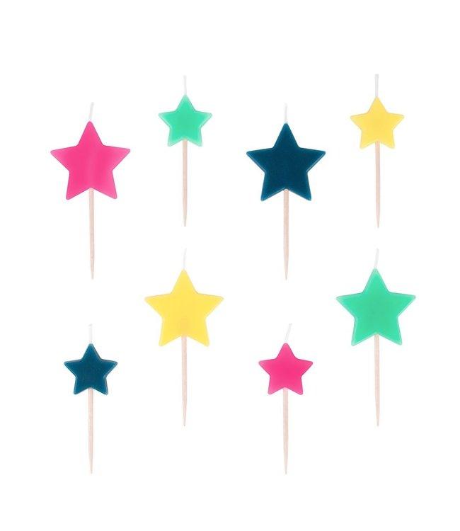 My Little Day Cosmic Kaarsjes - 8 stuks - Taartkaarsjes voor een space feestje