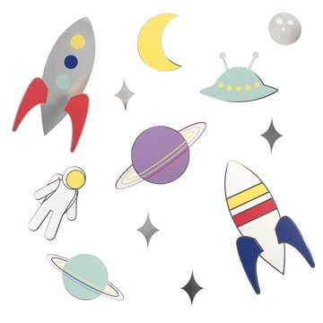 My Little Day Cosmic Decoraties - 20 losse stickers - Voor een space feestje