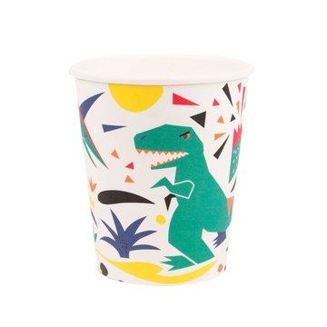 My Little Day Dinosaurus Bekers - 8 stuks - Voor een dino feestje
