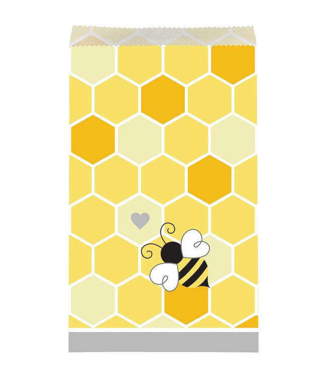 Creative Party Bumblebee Zakjes - 10 stuks - Bee Party